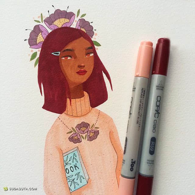 Laura Bernard 清新可爱的时尚插画