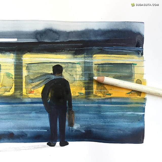 Marc Martin 手绘唯美水彩插画