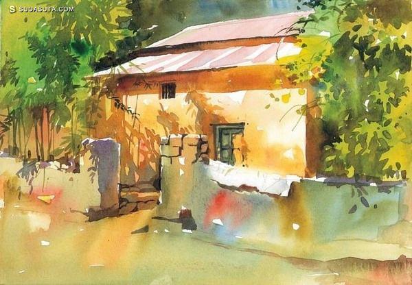 Milind Mulick 城市水彩印象