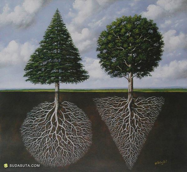 Rafal Olbinski 超现实主义绘画艺术欣赏
