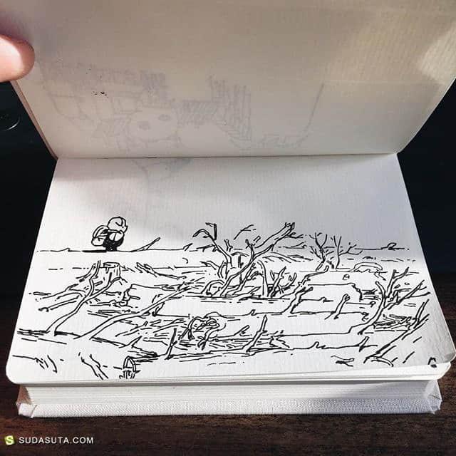 Robert Kondo 的手绘涂鸦本子