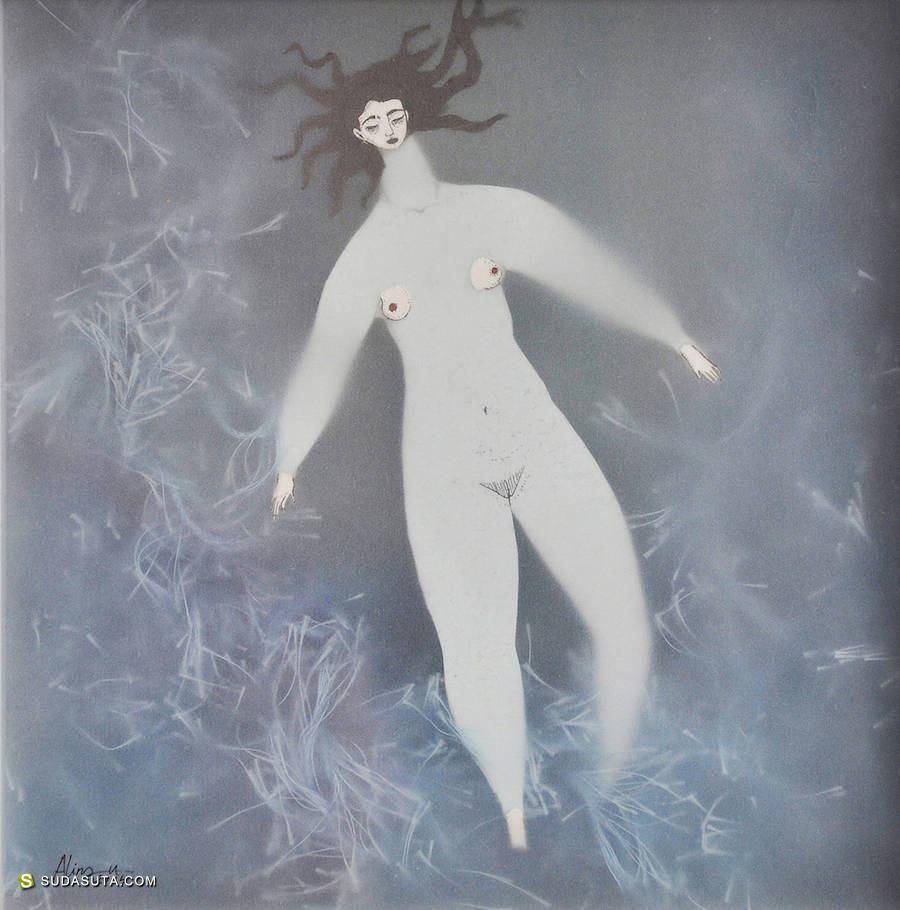 Sonia Alins 有趣的混合艺术《水下》