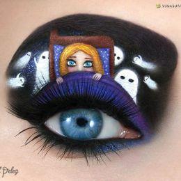 Tal Peleg 万圣节主题的彩妆设计