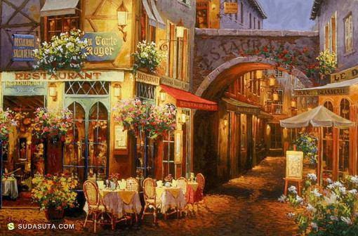 Viktor Shvaiko 绿意盈盈的城市印象