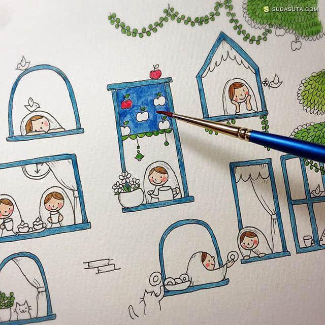 村上暁子(むらかみあきこ) 手绘儿童插画