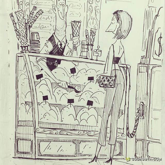 Avner Geller 旅行和卡通草图本子