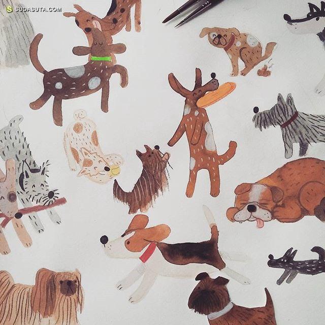 Carmen Saldaña 童话与坚果 儿童插画欣赏