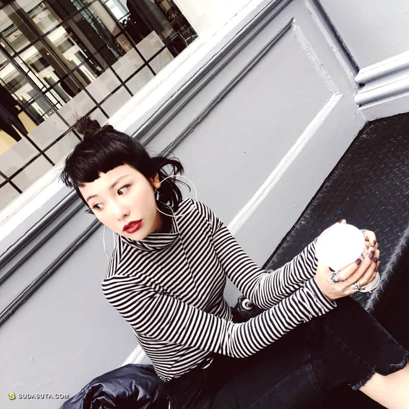 独立女装品牌AM 时尚街拍