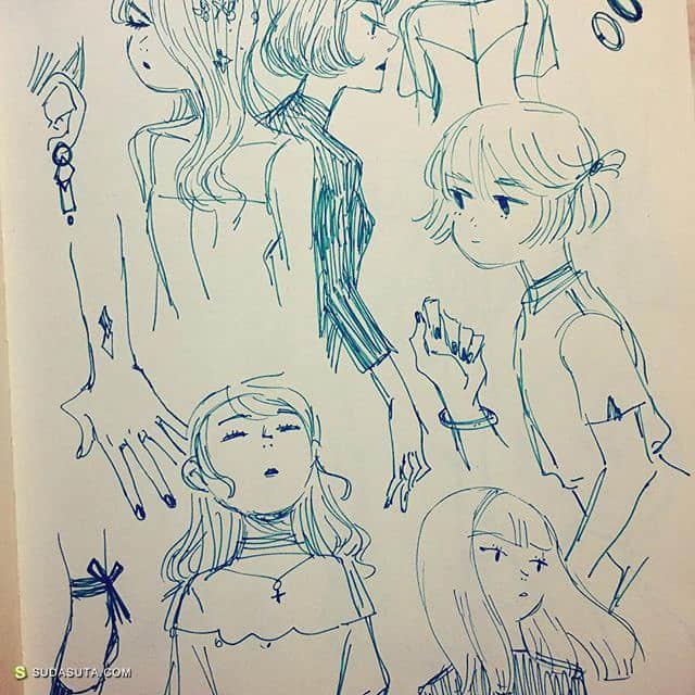 Heejin Jaimie Park 手绘可爱女生