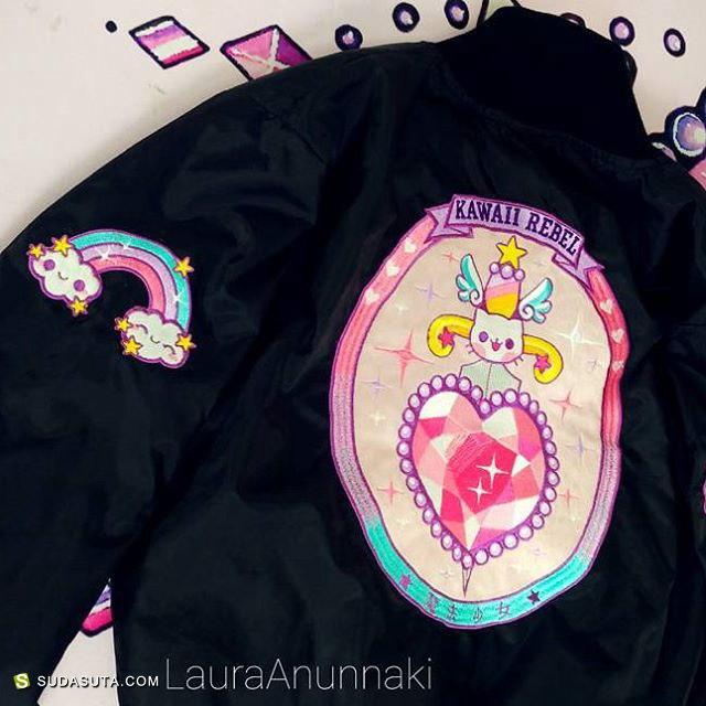 Laura Anunnaki的少女心 纹身艺术欣赏