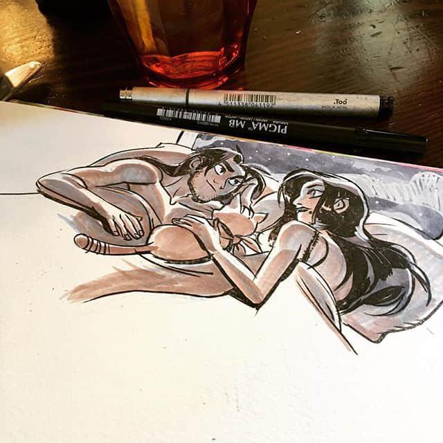 洛杉矶插画家Mindy Lee 手绘本子