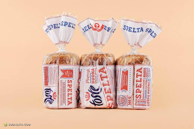 面包品牌SPELTA 新包装设计欣赏