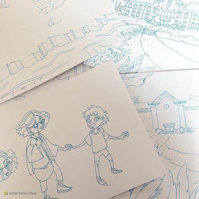 anna schillings 的手绘卡通草图本子