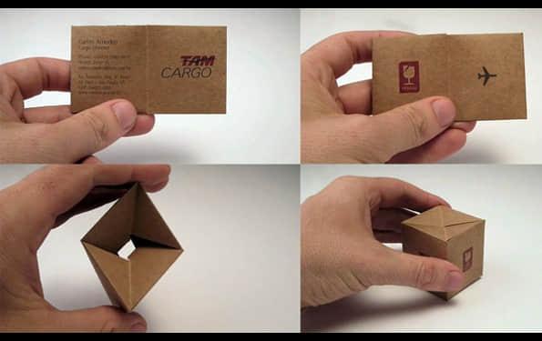 带有折叠效果的名片设计