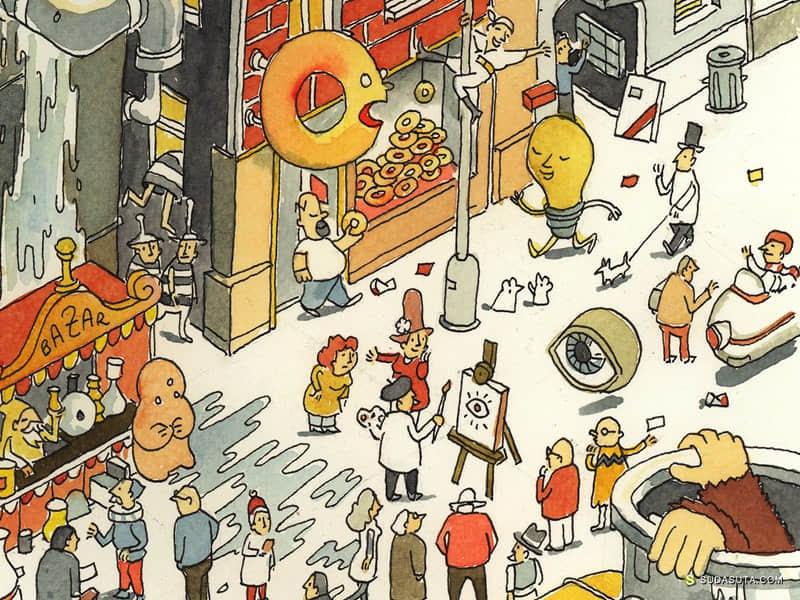 Daniel Spacek 书籍插画欣赏