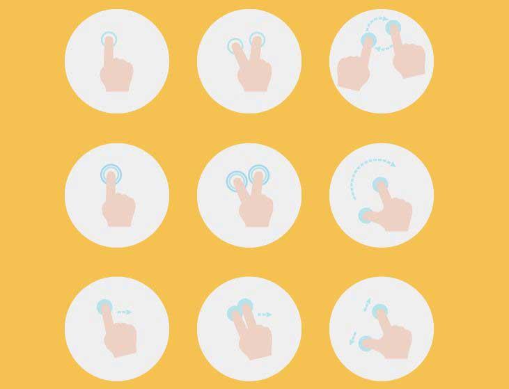 20+免费的应用程序手势图标集下载