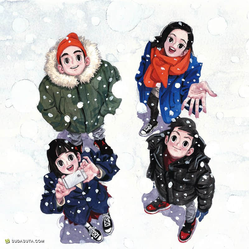 Jungyoun Kim 2017年年历插画欣赏