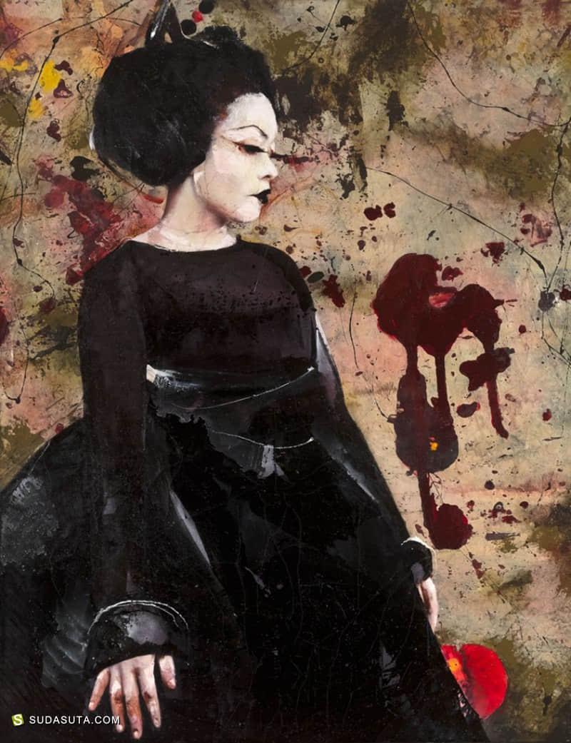 Lita Cabellut 时尚肖像插画欣赏