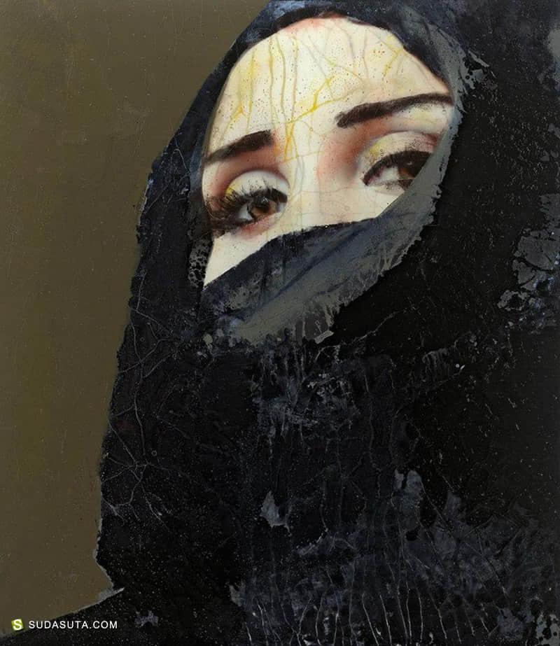 Lita Cabellut 肖像插画欣赏