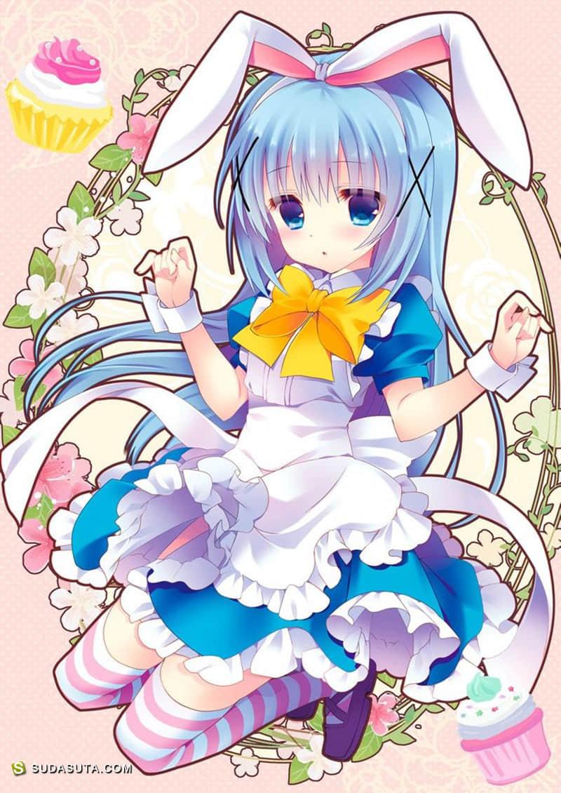 《请问您今天要来点兔子吗?》戳中萌点的CG作品