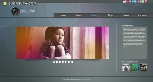 100+免费的photoshop 网页PSD模板
