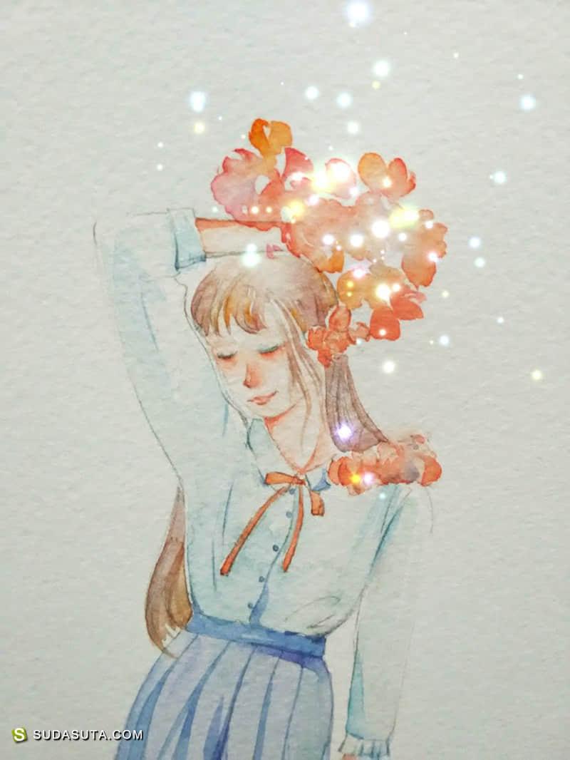 风马玥 清新可爱的原创手绘插画