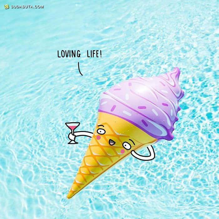 Charly Clements 幽默有趣的生活小插图