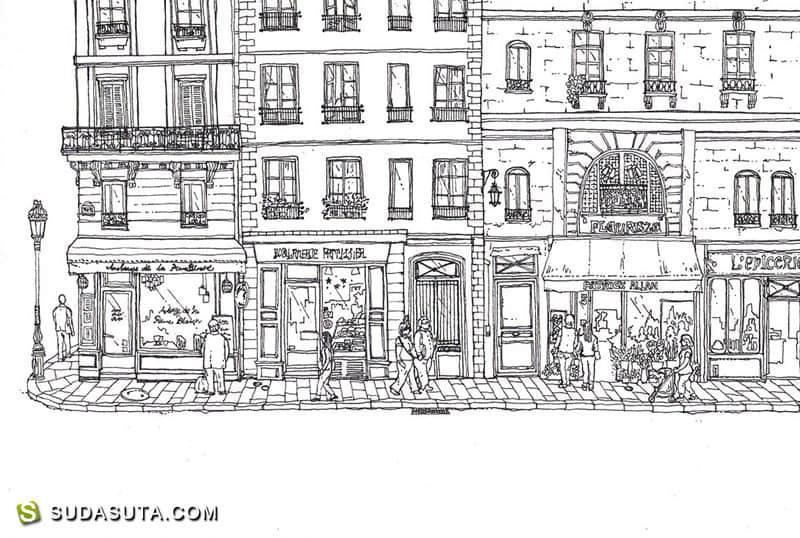 Ryoko Nagara 清新有爱的生活小插画