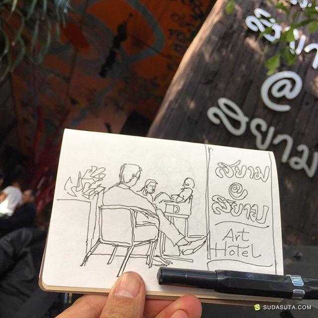 KiBangkok 美食咖啡与水彩速写