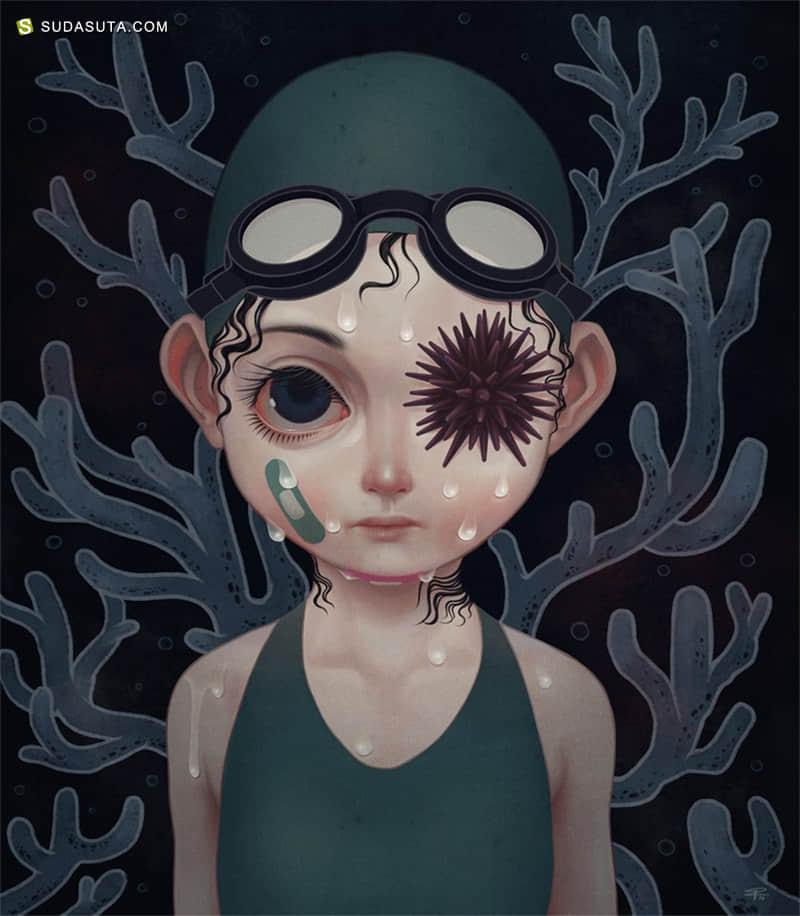 Pruch Sintunava 少女与噩梦 数字艺术作品欣赏