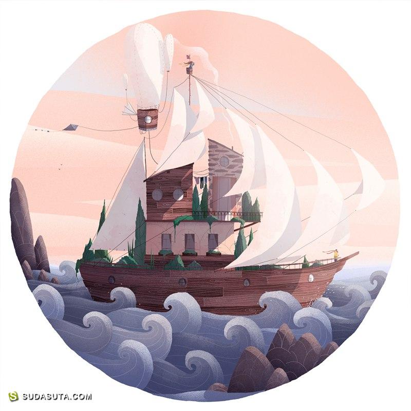 Tristan Gion 装饰插画欣赏