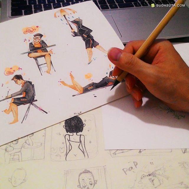 Lê Dức Hùng 温暖可爱的速写本子
