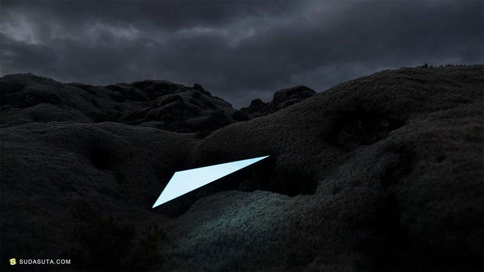 Künstler 极简主义的图形光雕塑