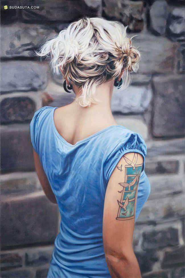 Philip Muñoz 刺纹身的女生 人像插画欣赏