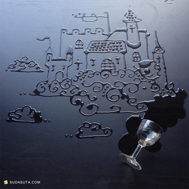 Aravis Dolmenna  水渍的艺术