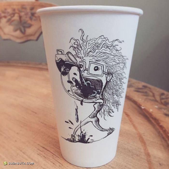 Java Doodles 在纸杯上作画