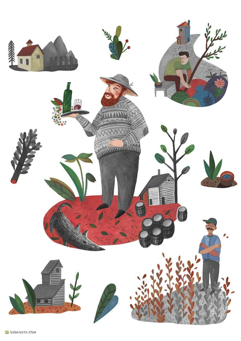 Katerina Voronina 商业插画欣赏