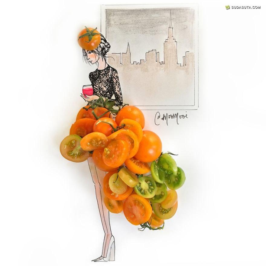 Meredith Wing 时尚,手绘与花