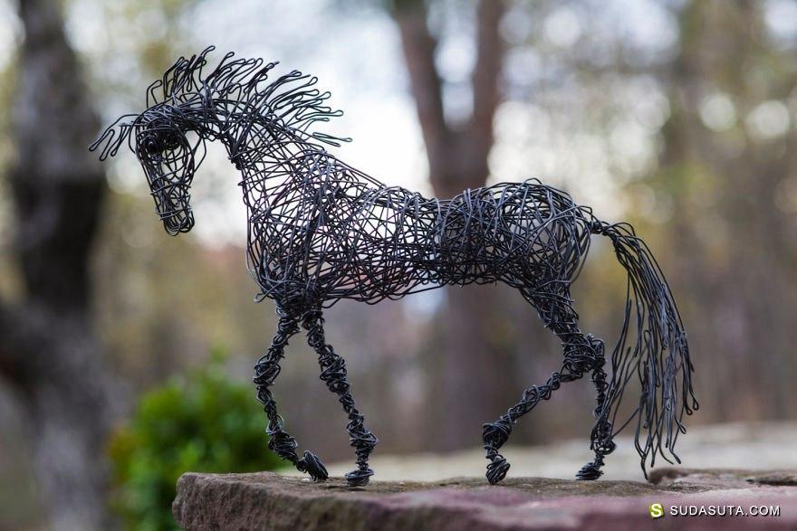 Nir Vena 电线的艺术 雕塑设计欣赏