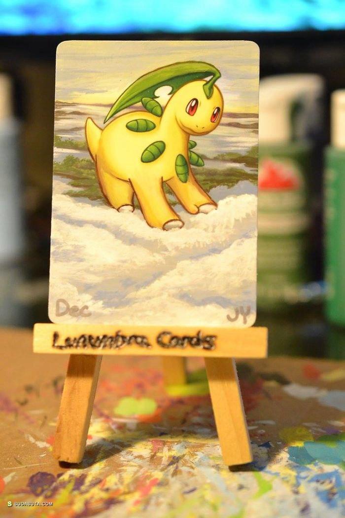 Lunumbra 翻新手绘宠物小精灵卡