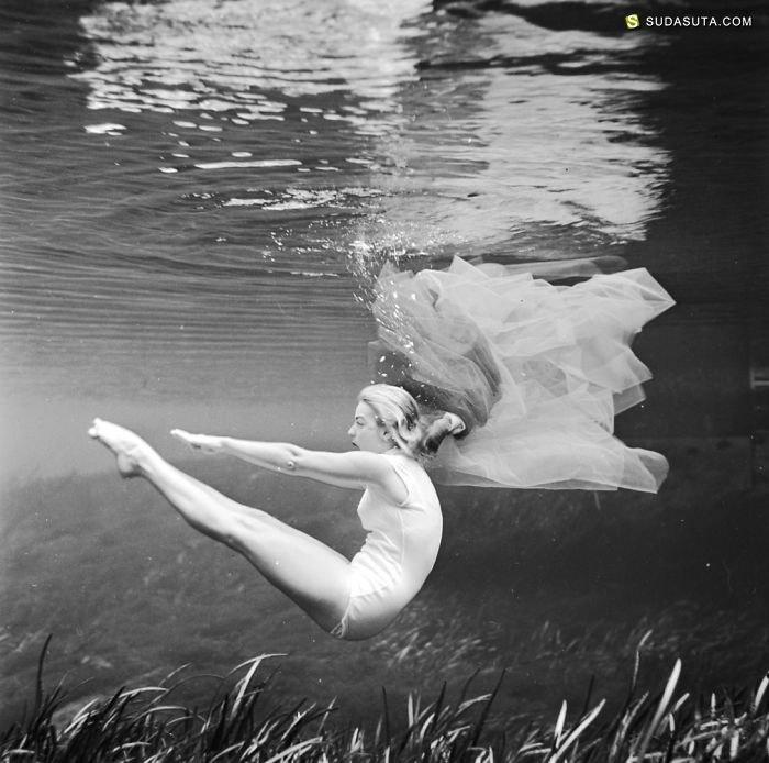 老照片 1938年的水下摄影欣赏