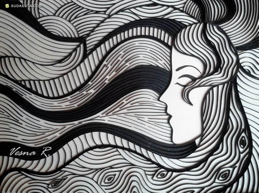 Vesna Rikic 纸张的艺术