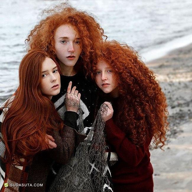 Vitaliy Zubchevskiy 红头发的女生 超现实主义肖像摄影