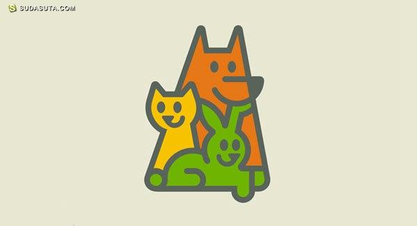 创意LOGO设计欣赏 猫狗一家亲