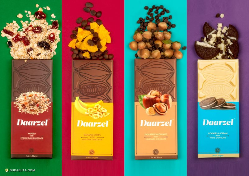 Daarzel 巧克力包装设计欣赏