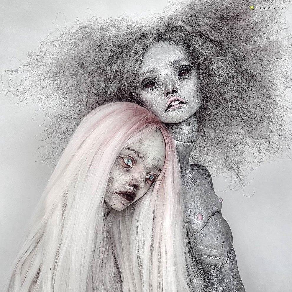 玩偶艺术家Emilie Steele 的恐怖娃娃