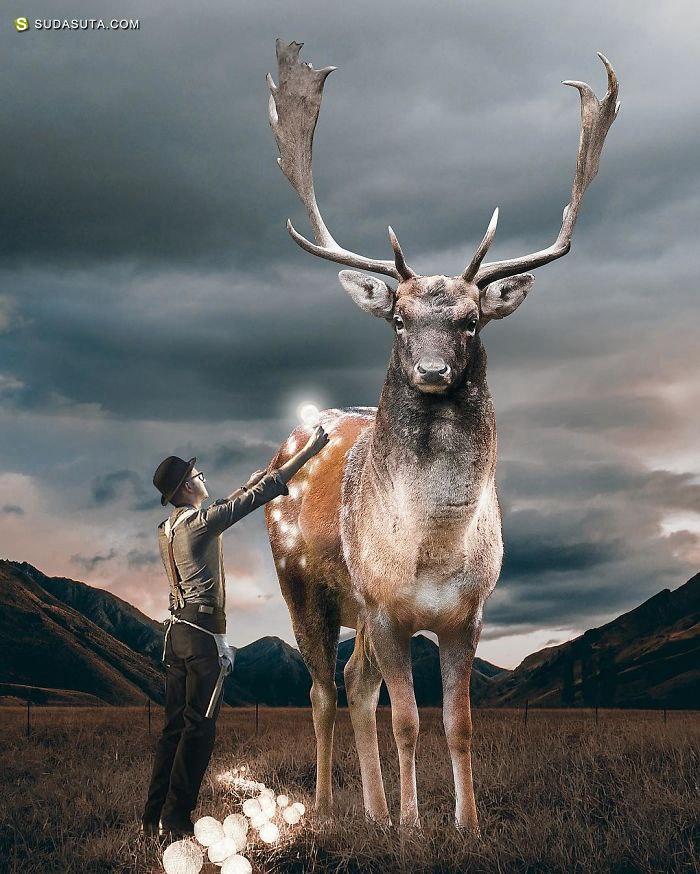 Huseyin Sahin 梦的写实 超现实主义照片合成作品欣赏