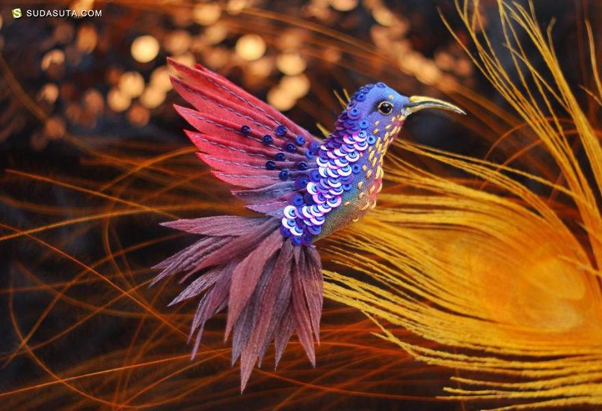 Julia Gorina 珠宝与鸟