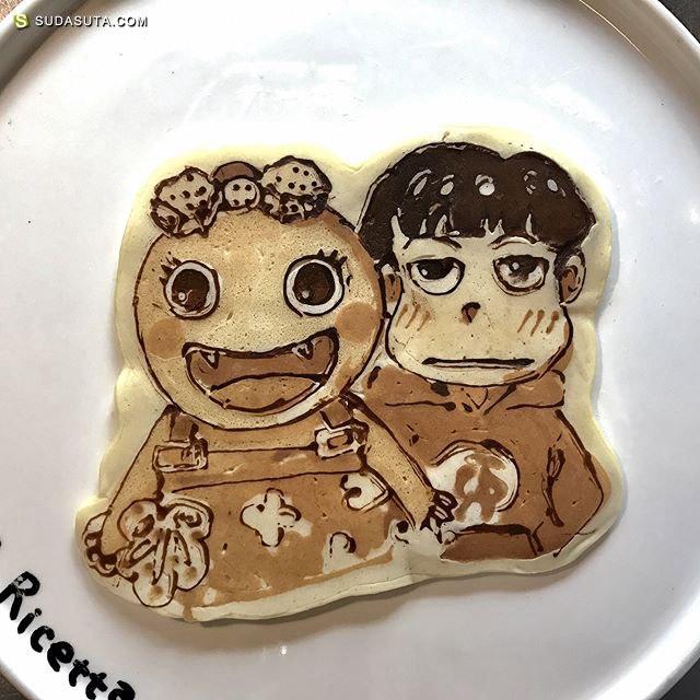 稲垣圭介 用煎饼铛画漫画