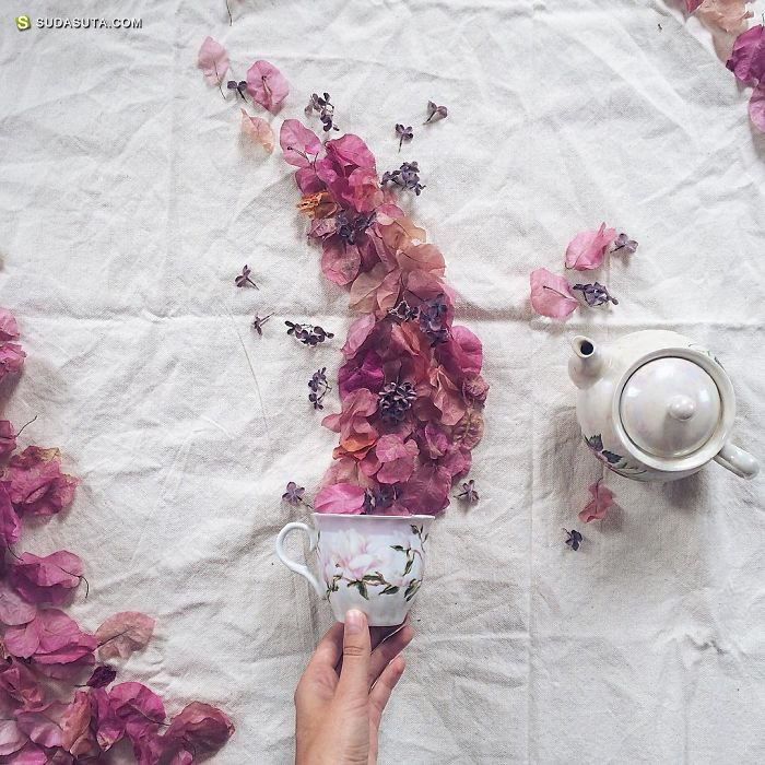 Marina Malinovaya 童话般的花的茶